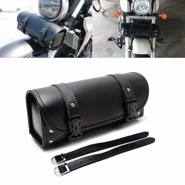 ツールバッグを装着したバイクの画像