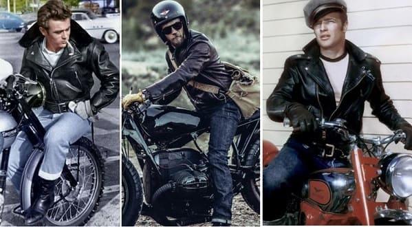 アメリカンバイクの服装の画像