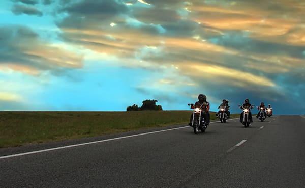 バイクツーリングの様子の画像