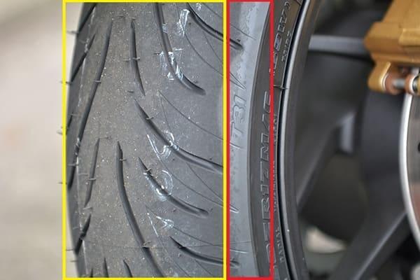 タイヤの皮向き状態が分かる画像