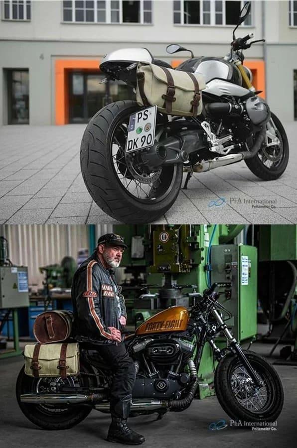 LEGACY NEOを装着した2台のバイクの画像
