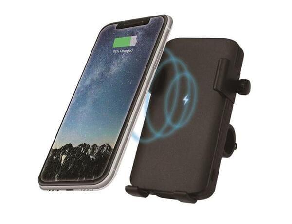 QI充電器付きスマホホルダーの画像