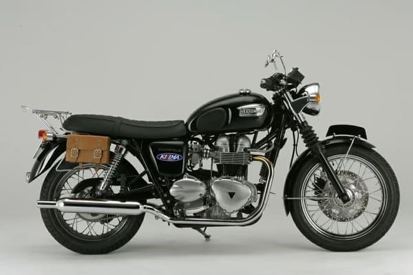 クラシックツールバッグを装着したバイクの画像