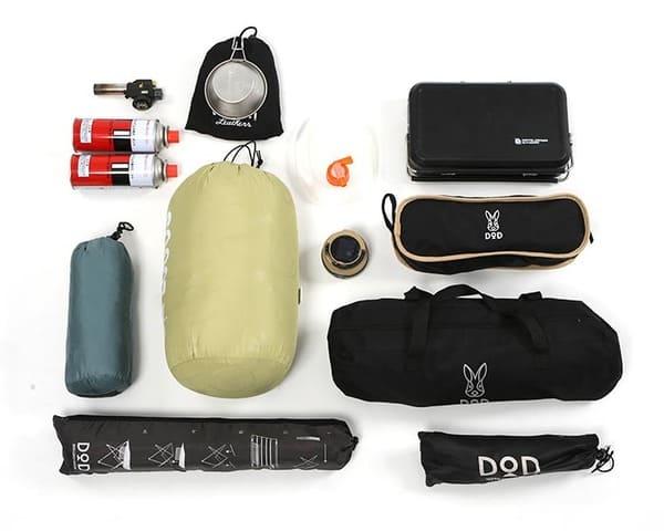 ターポリンデイバッグの片側積載例の画像