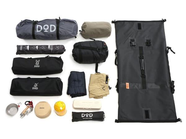 ターポリンツーリングシートバッグの積載参考画像
