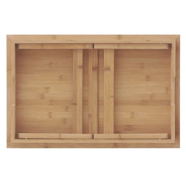 アウトドアテーブルバンブーの収納時画像