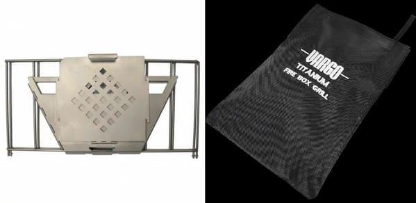 チタニウムファイヤーボックスグリルの収納時の画像