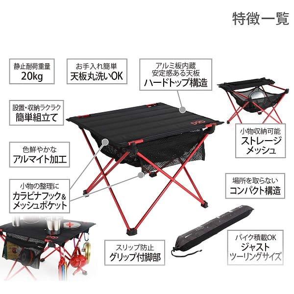 ライダーズテーブルの詳細説明画像