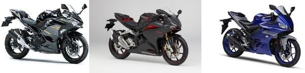 国産メーカー人気250ccの画像