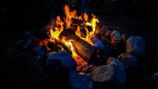 焚き火の画像