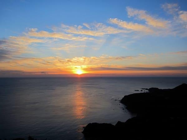 鳥羽展望台からの夕日の画像