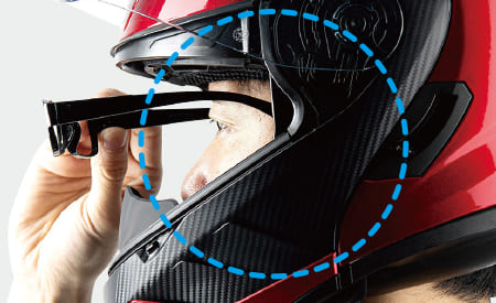 メガネ対応チークパッド説明の画像