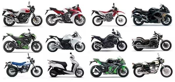 色々なバイクタイプの画像
