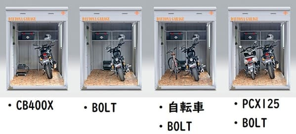 デイトナガレージベーシックタイプのHサイズ説明画像