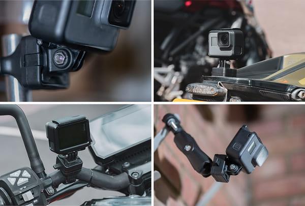 アクションカメラ用アダプターの取り付け画像