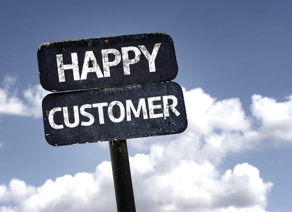 顧客満足度という看板の画像