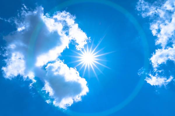 夏の日差しの画像