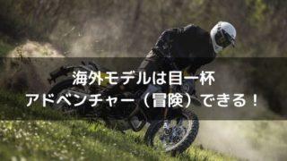海外モデルアドベンチャー紹介のタイトル画像