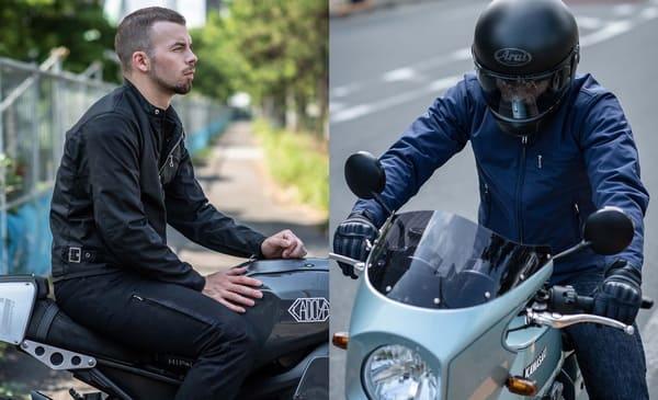 ヘルメットやバイクと合わせた画像