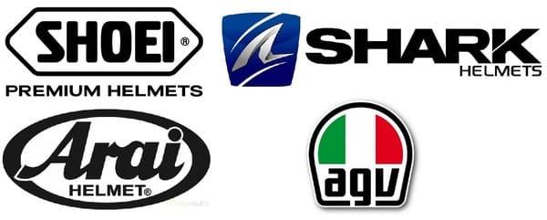 ヘルメットメーカーのロゴ