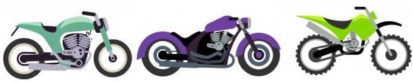 色んなバイクのフラット画像