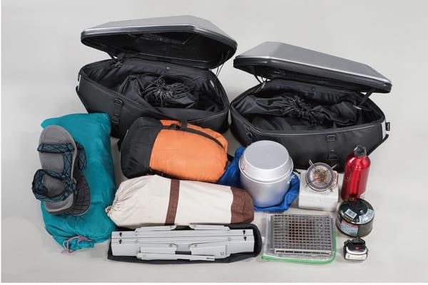 キャンプ用品収納例の画像