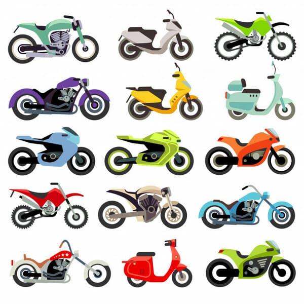 色々なバイクのフラットイラスト