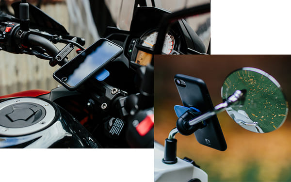バイク用スマホホルダーの画像