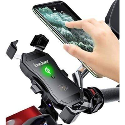 qi対応バイク用スマホホルダーの画像