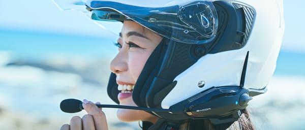 バイクのインカム画像