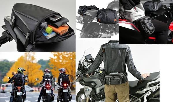 バイクのバッグ類の画像