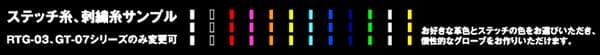 ジニアスのフルオーダーグローブ説明画像
