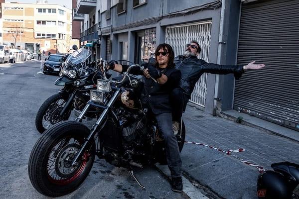 バイクが大好きなノーマン・リーダスの画像
